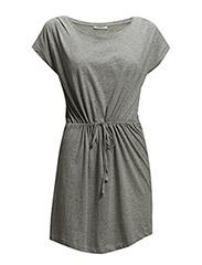 onlAPRIL SS DRESS PLAIN ESS - Light Grey Melange