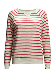 onlBARBARA L/S STRIPE SWT - Cloud Dancer