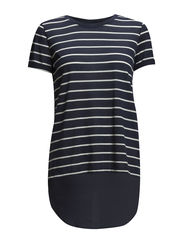 onlMAXELLA MIX STRIPE S/S TOP WVN HSC - Mood Indigo