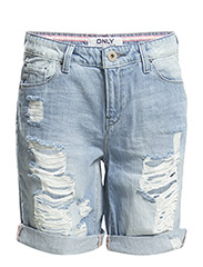 onlCLAUDI BERMUDA DNM SHORTS BOX CRE - Light Blue Denim