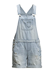 onlKIM WITTY DNM OVERALL SHORTS TT2157 - Light Blue Denim