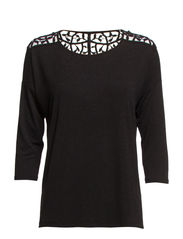 onlMOSTER CROCHET  3/4 TOP JRS - Black