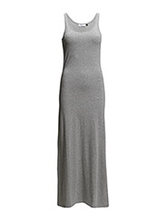 onlABBIE SL LONG TANK DRESS NOOS - Light Grey Melange