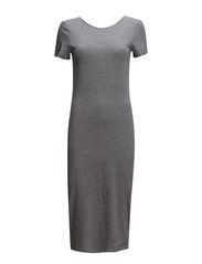 onlABBIE 2/4 PLAIN CALF DRESS ESS - Light Grey Melange