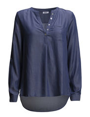 onlSWINI SHALLOW L/S TUNIC WVN - Chambray Blue