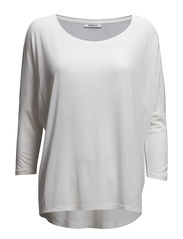 onlBELLE 3/4 LOOSE  TOP ESS - Cloud Dancer