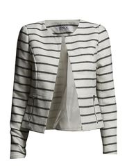 onlKIM CROPPED STRIPE BLAZER FD OTW - Cloud Dancer