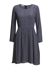 onlRACHEL 4/5 DRESS WVN - Medieval Blue