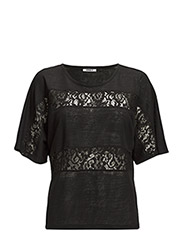 onlBETTY 2/4 LACE TOP JRS - Black