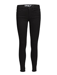 onlROYAL REG ANKLE ZIP JEANS BLACK - Black