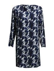 onlHENNY L/S SHORT DRESS WVN - Dark Blue