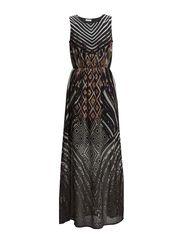 onlINDY GRAFIC S/L LONG DRESS WVN - Black