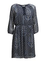 onlKATINKA L/S SHORT DRESS WVN - Dark Navy