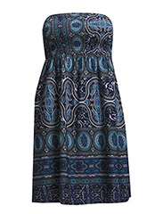 onlJORDAN PAISLEY SHORT TUBE DRESS WVN - Dark Navy