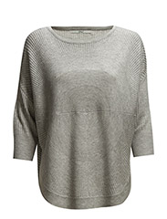 onlBRIDGET 3/4 PULLOVER KNT - Light Grey Melange