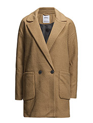 onlCOVENT WOOL COAT OTW - TANNIN