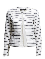 onlKIM CROPPED STRIPE BLAZER RP1 - Cloud Dancer
