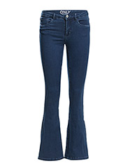 onlROYAL REG SK RETRO FLARED JEAN PIM867 - Dark Blue Denim