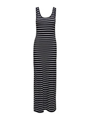 onlABBIE STRIPE SL LONG ONECK DRESS NOOS - NIGHT SKY