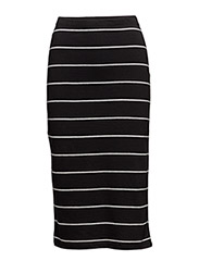 Only - Onlabbie Stripe  Calf Skirt Noos