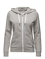onlFINLEY LS ZIP HOOD NOOS - LIGHT GREY MELANGE