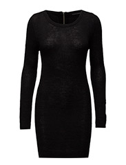 onlNEW HAYLEY L/S ZIPPER DRESS KNT NOOS - BLACK