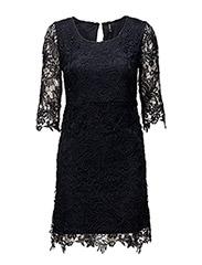onlNEW SASSY 3/4 DRESS WVN - NIGHT SKY