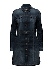 onlLORI BUTTON DNM DRESS AKM2136 - MEDIUM BLUE DENIM