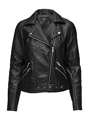 onlSISSE FAUX LEATHER BIKER OTW - BLACK