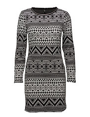 onlROSE L/S DRESS JRS - BLACK