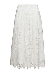 stuNEW ESTEE HW VOLUME LACE SKIRT - SNOW WHITE