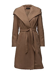 onlPHOEBE HOODED COAT CC OTW - CAMEL