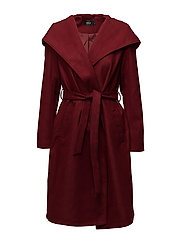 onlPHOEBE HOODED COAT CC OTW - SUN-DRIED TOMATO