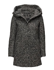 onlINDIE NOMA WOOL COAT CC OTW - DARK GREY MELANGE