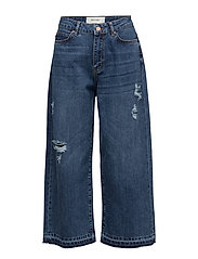 stuSTUDIO2 HW RAW JEANS CULOTTE - MEDIUM BLUE DENIM