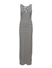 onlPOLLY S/L LONG DRESS JRS - CLOUD DANCER