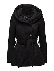 onlMARY LISA SHORT WOOL COAT CC OTW - BLACK