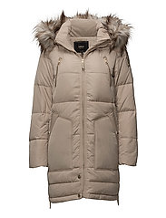 onlRHODA DOWN COAT OTW - SIMPLY TAUPE