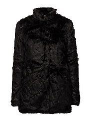 onlVIVA FUR COAT OTW - BLACK