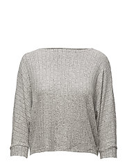 onlIDA RIB 3/4 PULLOVER KNT - LIGHT GREY MELANGE