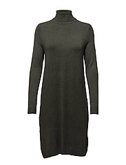 onlAIDA L/S ROLLNECK DRESS KNT - PEAT