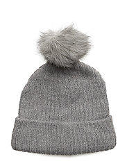 onlPAULA KNIT POM POM HAT ACC - LIGHT GREY MELANGE