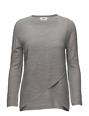 onlPI 7/8 WRAP PULLOVER KNT - LIGHT GREY MELANGE