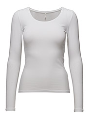 onlLIVE LOVE NEW LS O-NECK TOP NOOS - WHITE