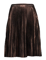 onlJOYCE PLEATS MIDI SKIRT OTW - COPPER
