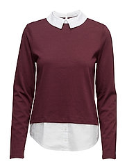 onlCALLY L/S COLLAR TOP JRS - PORT ROYALE
