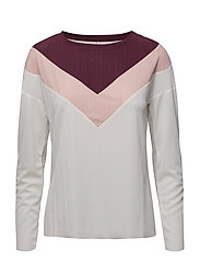 onlANJA L/S BLOCK TOP JRS - CLOUD DANCER