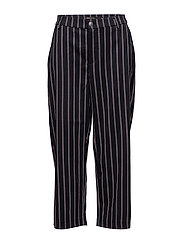onlMONKEY NEW STRIPE CROPPED PANT PNT - SKY CAPTAIN