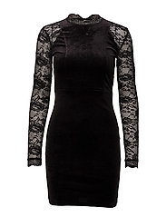 onlVALERIE L/S BODYCON DRESS JRS - BLACK