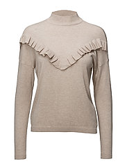 onlCAROLA L/S HIGHNECK PULLOVER KNT - PUMICE STONE